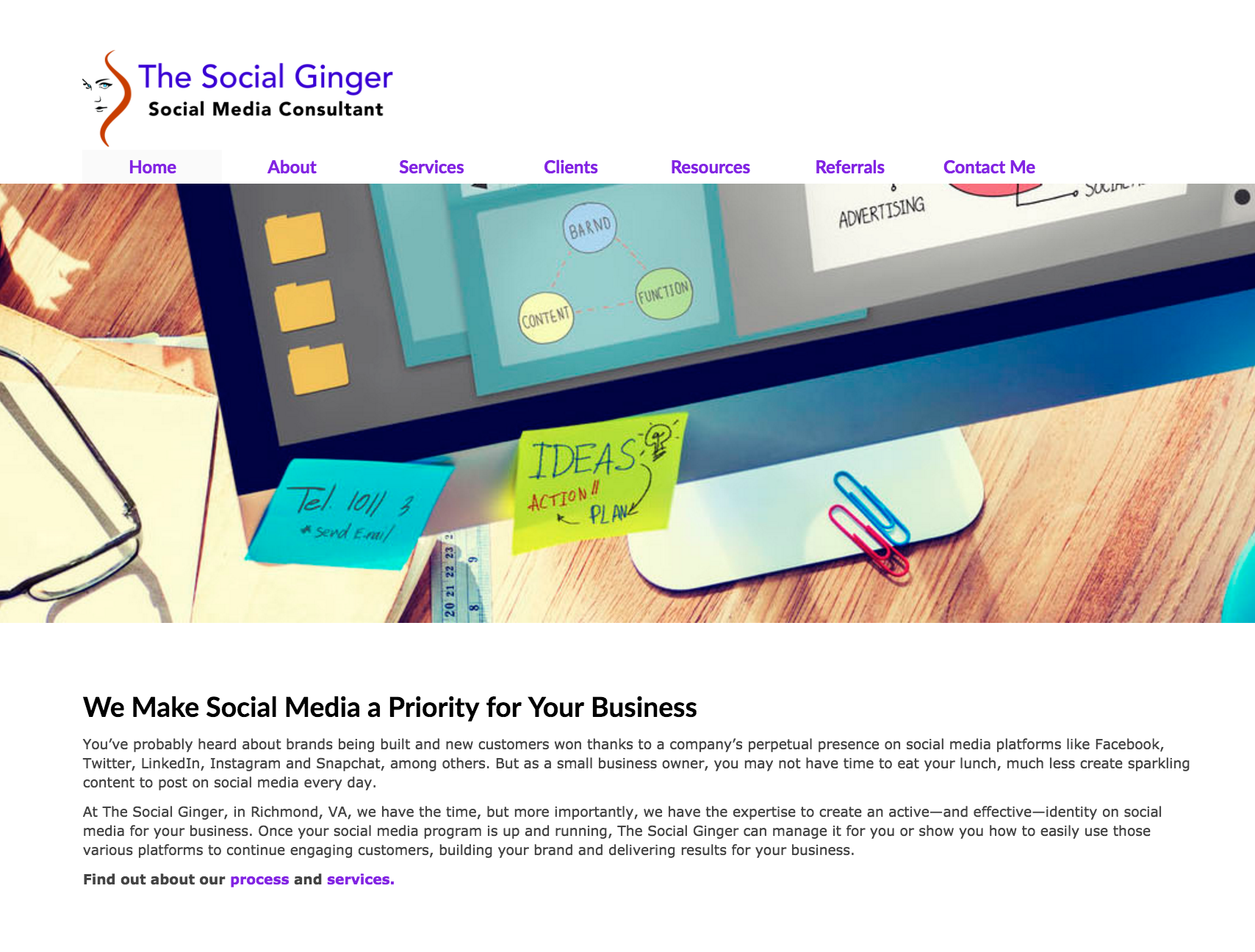 The Social Ginger website